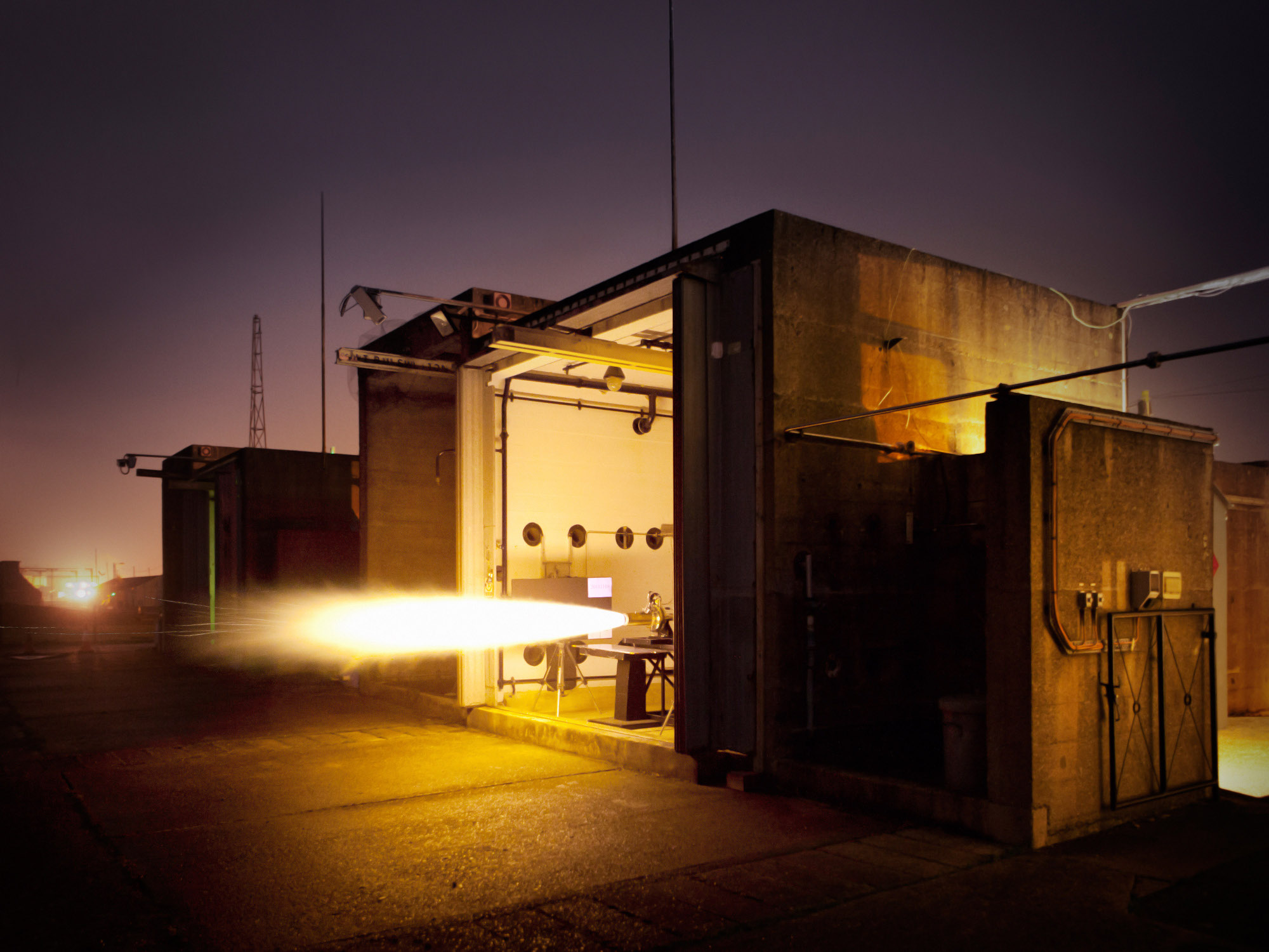 Image of test bay firing